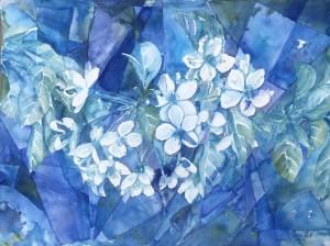 blommor,abstrakt,blå