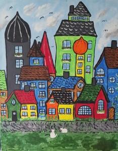 Stad,Byggnader,Katter